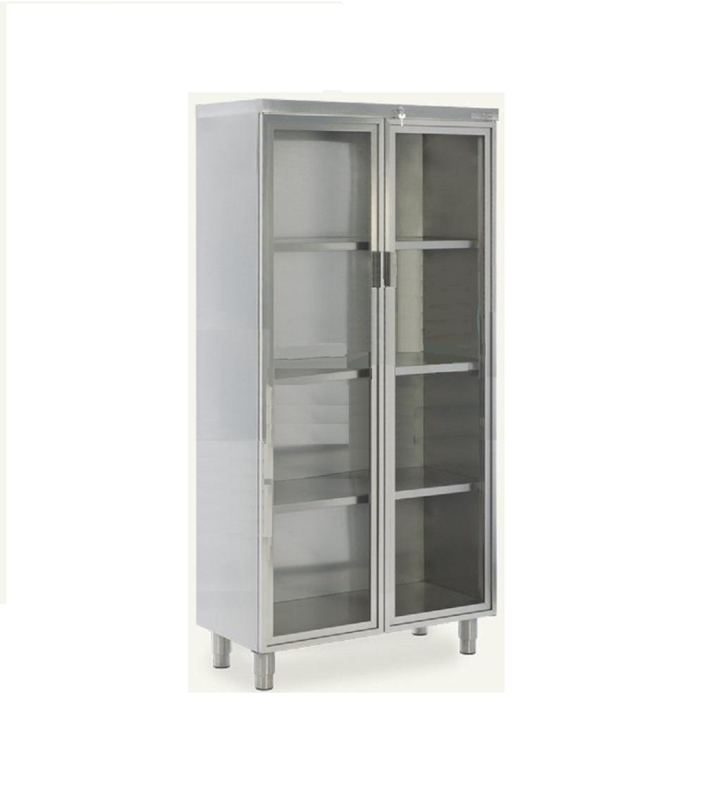 Stainless Steel With Double Door
